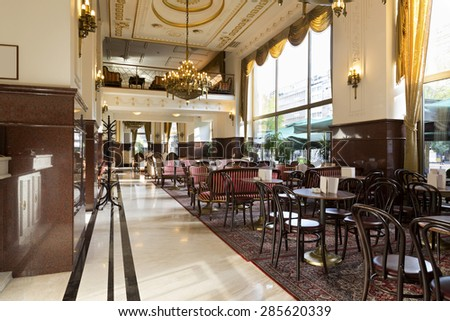 Restaurant in a luxury hotel - stock photo