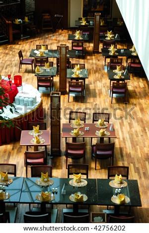 Restaurant in popular hotel, Dubai, United Arab Emirates - stock photo