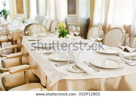 restaurant interior - stock photo