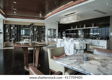Restaurant interior, part of luxury hotel