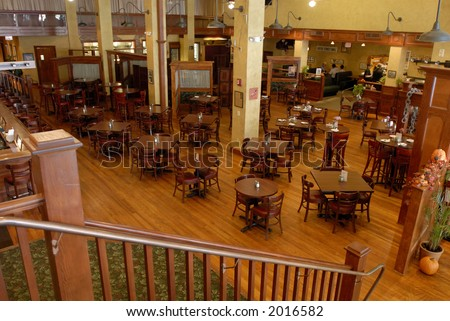 Restaurant interior with tables