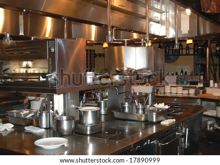 Restaurant kitchen in Napa Valley