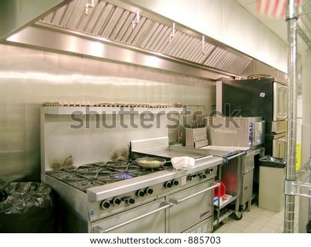 Restaurant Kitchen Line - stock photo