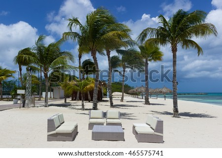 restaurant lounge zone on the beach
