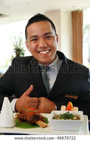 restaurant manager - stock photo
