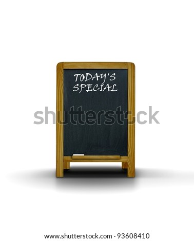 Restaurant menu board  today's special - stock photo