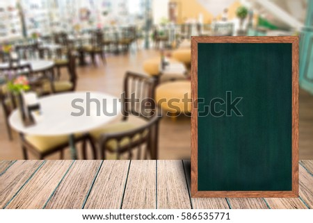 Restaurant Menu Boards Signs On Wooden Stock Photo Royalty Free - Restaurant table signs