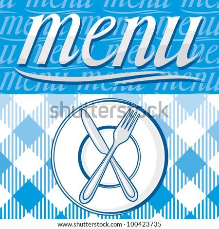 Restaurant menu design - stock photo