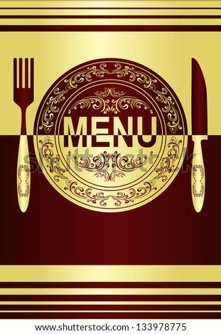 Restaurant menu design. Raster version. - stock photo