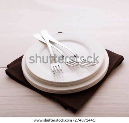 Restaurant Menu Design. Restaurant menu with empty plate and cutlery