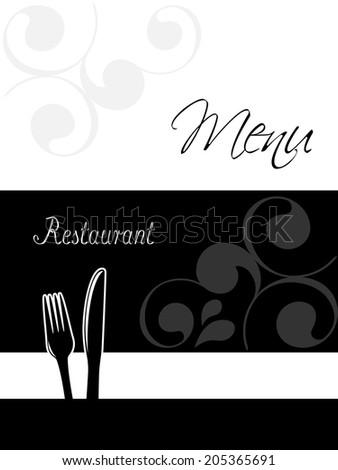 restaurant menu design - template brochure - stock photo