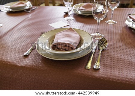Restaurant prepared table, celebration and event - stock photo