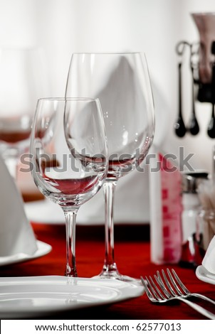restaurant set - stock photo