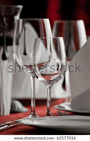 restaurant set - stock photo