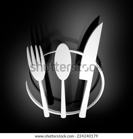 Restaurant symbol - stock photo