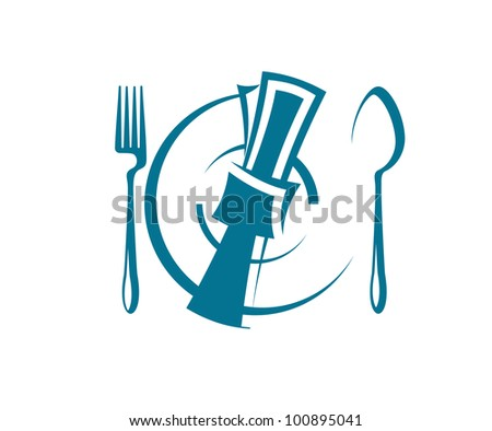 Restaurant  symbol, such logo. Vector version also available in gallery - stock photo