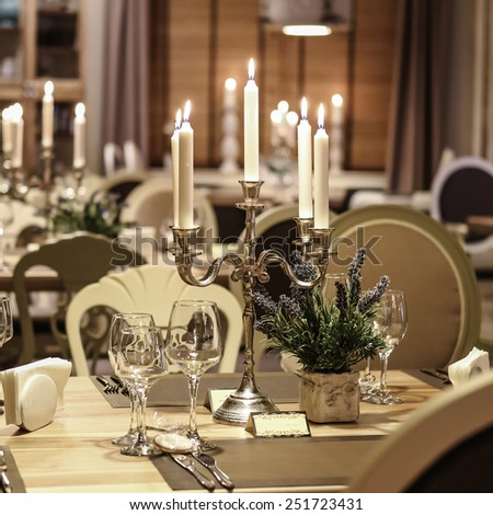 Restaurant Table Candles Stock Photo Shutterstock - Restaurant table candles