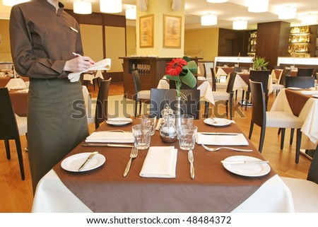 restaurant tables - stock photo