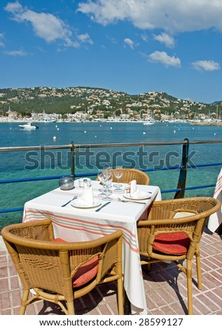 Restaurant with a beautiful sea view