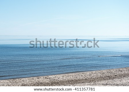 Restful summer day at gulf of Riga; Baltic sea.  - stock photo