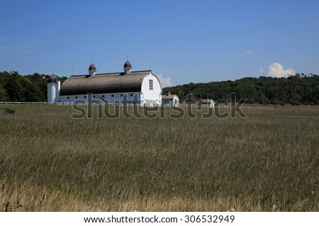 Restored D H Day farmstead at the Sleeping Bear National Lakeshore. - stock photo