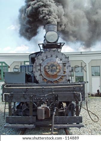 Restored steam locomotive - stock photo