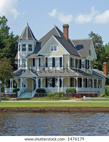 Restored Victorian House. - stock photo