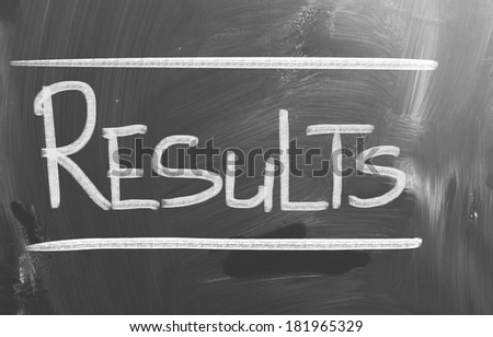Results Concept - stock photo