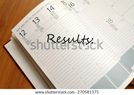 Results Concept Notepad - stock photo