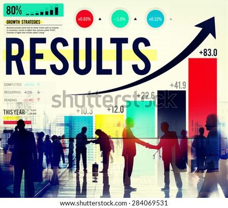 Results Conclusion Outcome Achievement Target Concept - stock photo