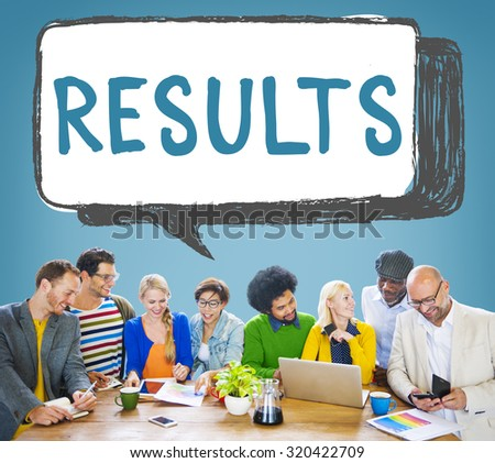 Results Effect Evaluation Productivity Concept - stock photo
