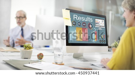 Results Efficiency Progress Growth Concept - stock photo
