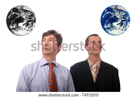 Results of polution and war in the earth - stock photo
