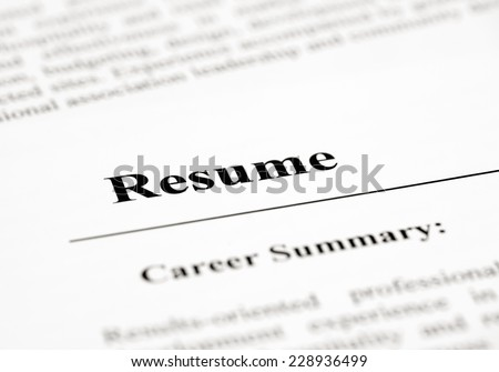 Resume - stock photo