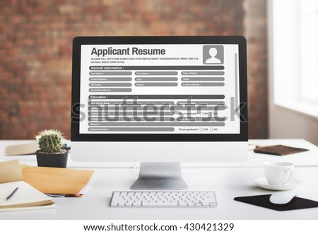 Resume Career Recruitment Employment Occupation Concept - stock photo