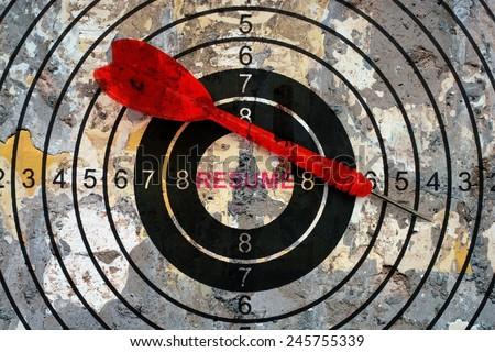 Resume target concept - stock photo