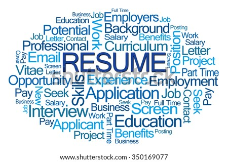 Resume Word Cloud On White Background  Resume In Word