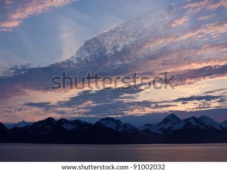 Resurrection Bay at Sunset - stock photo
