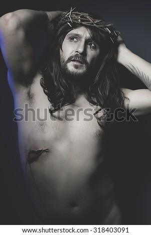 Resurrection, Calvary representation of jesus christ - stock photo
