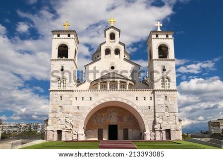 Resurrection Cathedral In Podgorica, Montenegro - stock photo