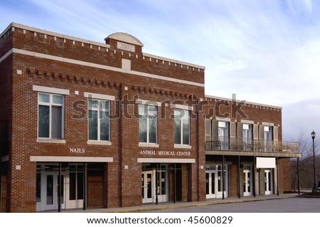 Retail storefronts. - stock photo
