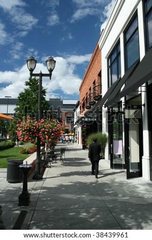 Retail Village - stock photo