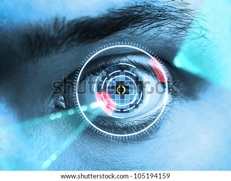 Retina Scan - stock photo