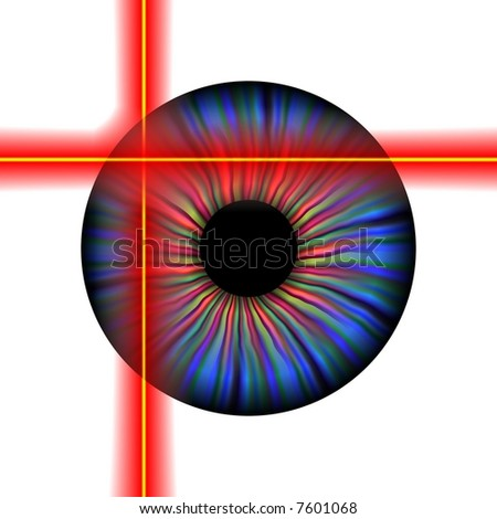 Retinal scan concept isolated on white - stock photo
