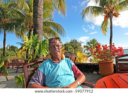 Retired Abroad - stock photo