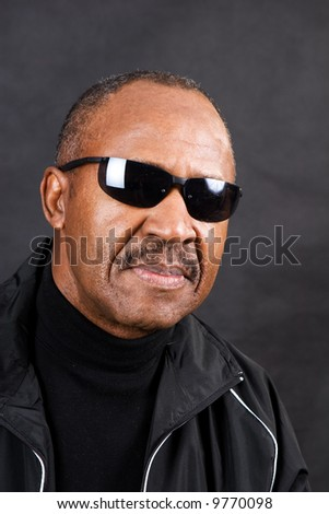 retired confident african-american man