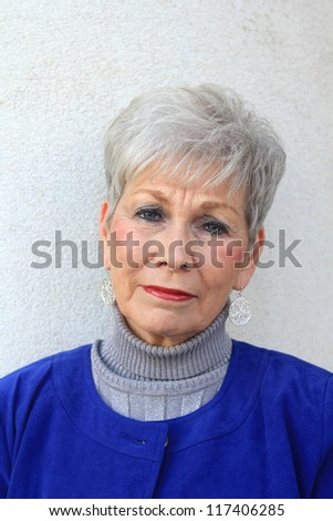 Retired Mature Professional Business Woman Sad, Upset, and Unhappy - stock photo