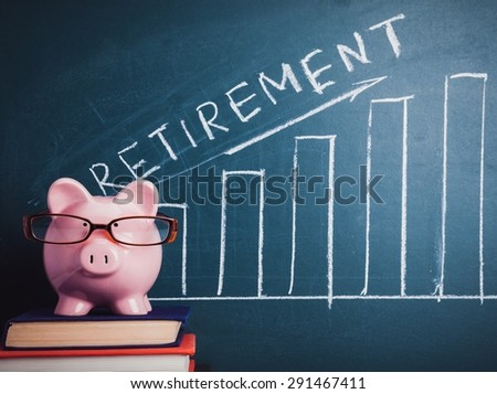 Retirement, Currency, Pension. - stock photo