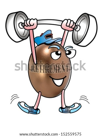 Retirement Exercise. - stock photo