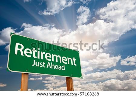 Happy retirement beach clipart retirement green road sign